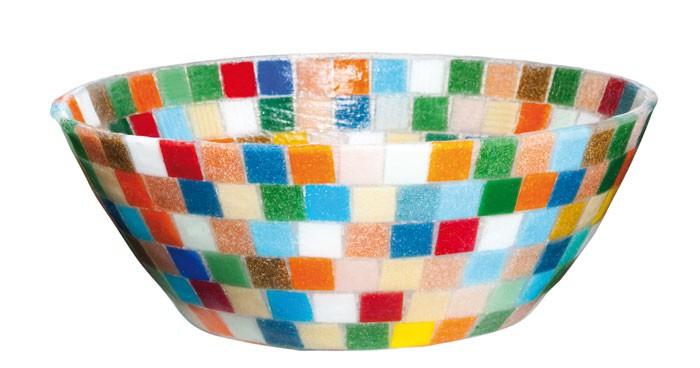 """Elastische Schale /""""Mosaik/""""Deko SchaleGummischale 30 cm bunt"""
