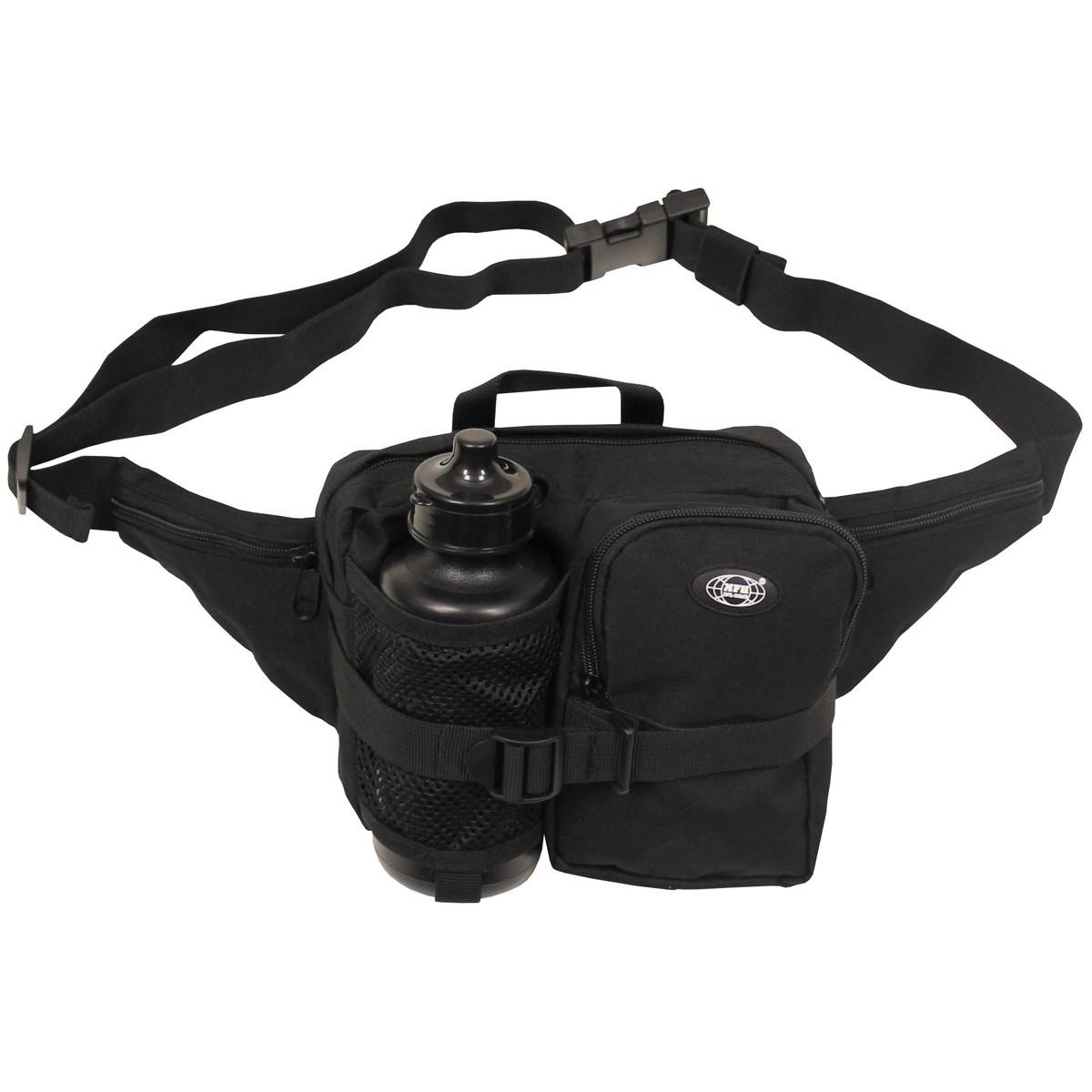 schwarz komfortabel, praktisch, Tasche Geocaching Hüfttasche mit Flasche