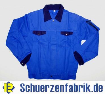 Herren Arbeitsjacke Bundjacke Jacke Kornblau abgesetz mit Hydron