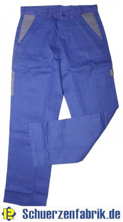 Herren Arbeitshose Bundhose Hose kornblau blau / grau