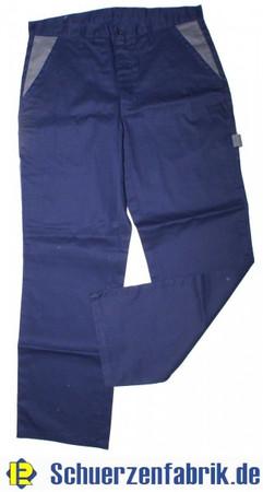 Herren Arbeitshose Bundhose Hose hydronblau blau / grau