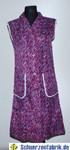 Damen Kittel Schürze Dederon Polyester lila Kragen 2 Taschen 001