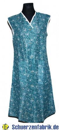 Damenkittel Kittel Schürze Dederon Polyester grün ohne Arm