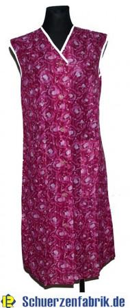 Damenkittel Kittel Schürze Dederon Polyester rosa ohne Arm