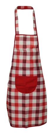 Trägerschürze Latzschürze Schürze Kochschürze fleckabweisend Karo – Bild 2