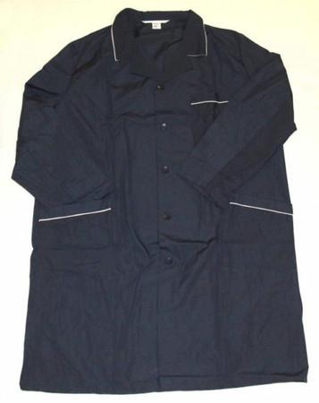 Herren Berufsmantel Arbeitskittel Kittel Mantel dunkelblau Mischgewebe