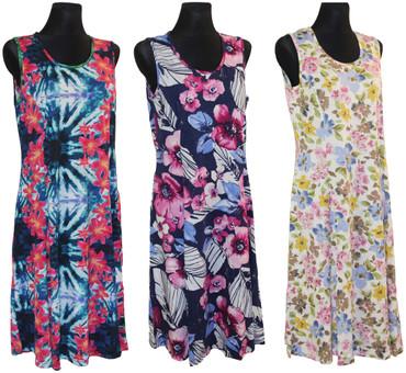 Kleid Hauskleid Gartenkleid Strandkleid Jersey Trägerkleid – Bild 1