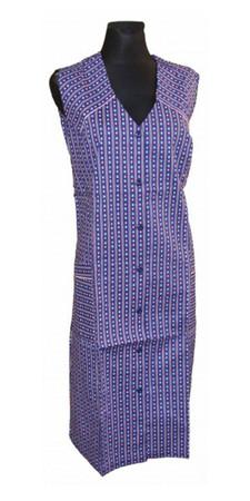 Damenkittel Kittel Schürze ohne Arm zum knöpfen – Bild 5