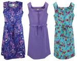Kleid Trägerkleid Hauskleid Gartenkleid Strandkleid bunt 001