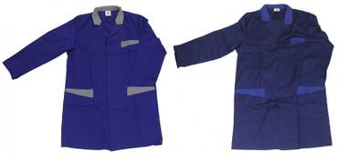 Herren Berufsmantel Arbeitskittel Kittel Mantel 3/4 lang blau o. dunkelblau – Bild 1