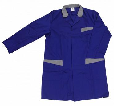 Herren Berufsmantel Arbeitskittel Kittel Mantel 3/4 lang blau o. dunkelblau – Bild 2