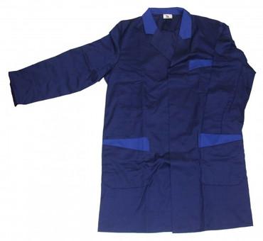 Herren Berufsmantel Arbeitskittel Kittel Mantel 3/4 lang blau o. dunkelblau – Bild 3