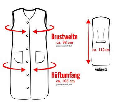 Damenkittel Kittel Schürze Hauskleid ohne Arm Baumwolle bunt