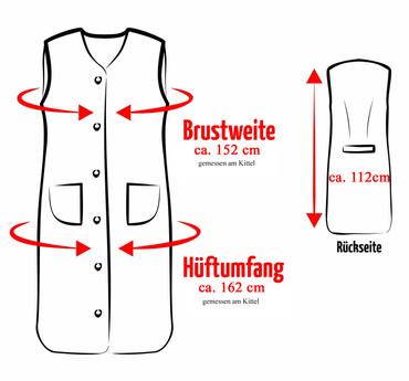 Damenkittel Kittel Schürze Hauskleid ohne Arm Baumwolle bunt – Bild 8