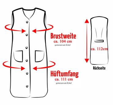 Damenkittel Kittel Schürze Hauskleid ohne Arm Baumwolle bunt – Bild 3