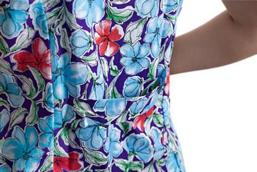Damenkittel Kittel Schürze Hauskleid ohne Arm Baumwolle bunt – Bild 7