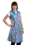 Damenkittel Kittel Schürze Hauskleid ohne Arm Baumwolle bunt 001