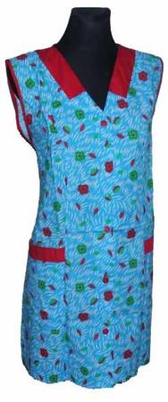 Kasack Kittel kurz Schürze 7/8- Kasack ohne Arm Baumwolle bunt Blumen – Bild 2