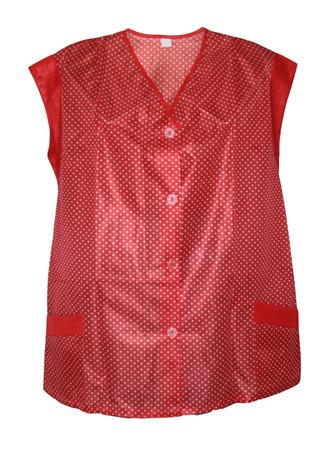 Kasack Hosenkasack Kittel kurz Schürze Dederon Polyester schwarz, rot und blau – Bild 2