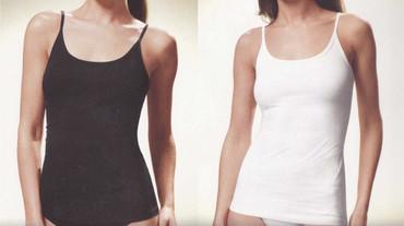 Damen Unterhemd Bio Baumwolle Spaghetti – Bild 1