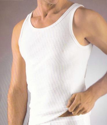 5 Stück Herren Unterhemden Baumwolle schwarz oder weiß Achselhemd – Bild 2