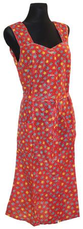 Kleid Trägerkleid Hauskleid Gartenkleid Strandkleid Dederon Nylon – Bild 2