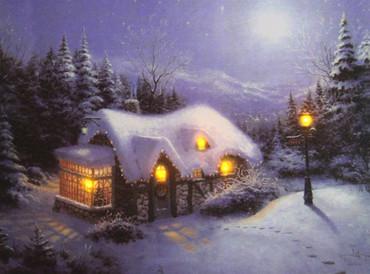 LED Fensterbild 30 x 40 x 1,5cm Wandbild Bild Leinwand Weihnachten – Bild 5