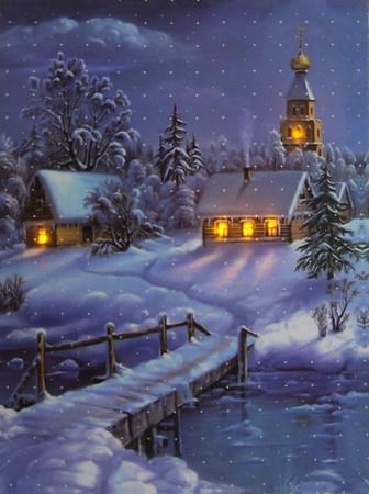 LED Fensterbild 30 x 40 x 1,5cm Wandbild Bild Leinwand Weihnachten – Bild 6
