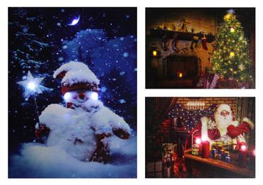 LED Fensterbild 30 x 40 x 1,5cm Wandbild Bild Leinwand Weihnachten – Bild 1