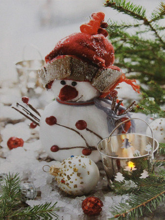 LED Fensterbild 30 x 40 x 1,5cm Wandbild Bild Leinwand Weihnachten – Bild 4