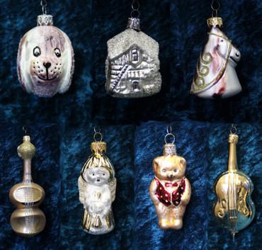 Christbaumschmuck Weihnachtskugeln Figuren aus Glas Anhänger Baumschmuck Baumbehang handgefertigt mundgeblasen Weihnachten  – Bild 1