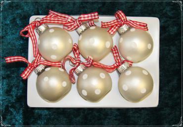 Christbaumschmuck Weihnachtskugeln Figuren aus Glas Anhänger Baumschmuck Baumbehang handgefertigt mundgeblasen  rot/weiß Weihnachten  – Bild 11