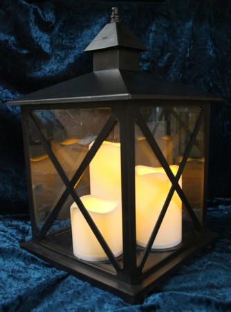 LED Laterne verblasst faded Optik Weihnachtsbeleuchtung Laternenlicht – Bild 5