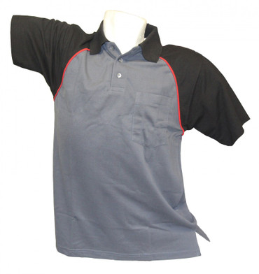 Poloshirt Polohemd Arbeitshemd grau schwarz