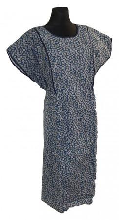 sehr bequemes Hauskleid Gartenkleid 1/4 Arm Schlupfkittel Baumwolle Seersucker – Bild 4