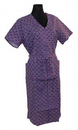 Reißverschluss RV Kittel mit Arm Schürze Hauskleid Baumwolle bunt – Bild 3