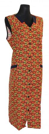 Knopfkittel Kittel Schürze ohne Arm mit Riegel Baumwolle Polyester bunt