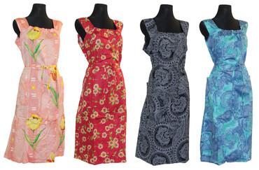 Kleid Trägerkleid Hauskleid Gartenkleid Strandkleid Satin – Bild 1