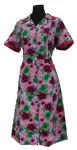 Kittel Schürze Hauskleid mit 1/4 Arm Baumwolle bunt  001