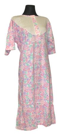 Nachtwäsche Nachtkleid Nachthemd 1/4 Arm Nachtgewand Damen – Bild 2