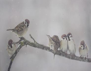 LED Wandbild Winterlandschaft Tiere Bild Leinwand Fensterbild Dekoration – Bild 2