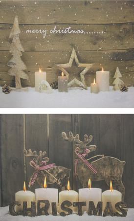 LED Wandbild Weihnachten Bild Leinwand Fensterbild Holz Dekoration – Bild 1