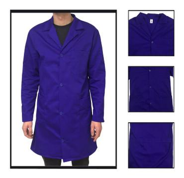 Herren Berufsmantel Größe 46 - 68 Arbeitskittel Kittel Mantel  kornblau – Bild 2