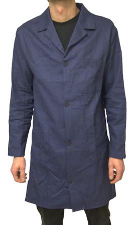 Berufsmantel Herren Größe 46 - 68 Arbeitskittel Kittel Mantel dunkelblau – Bild 1