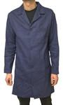 Berufsmantel Herren Größe 46 - 68 Arbeitskittel Kittel Mantel dunkelblau 001