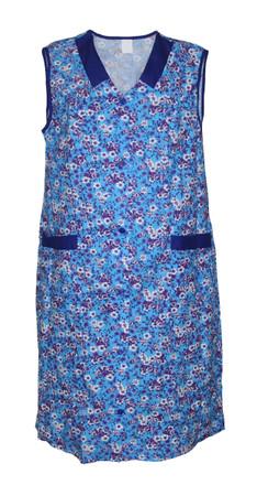 Damenkittel Baumwolle Hauskleid ohne Arm Kittel Schürze  bunt – Bild 5