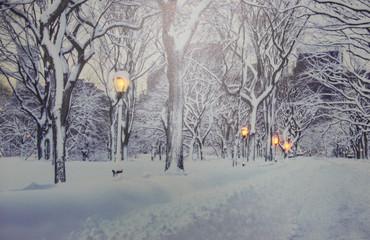 LED Wintermotiv Bild Weihnachten Fensterbild Leinwand Dekoration Holz Wandbild – Bild 3