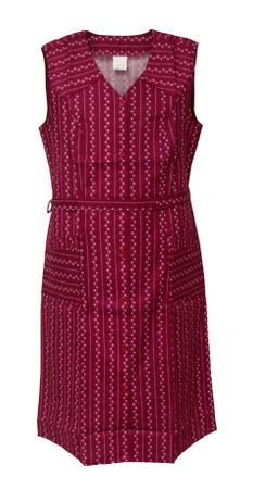 Damenkittel Baumwolle ohne Arm Kittel Schürze Knopfkittel bunt Hauskleid – Bild 2