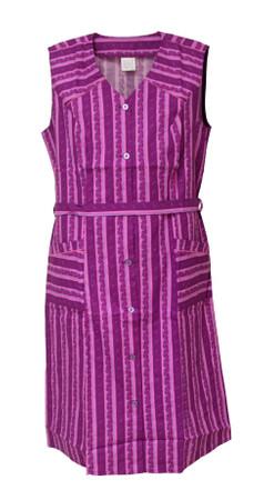 Damenkittel Baumwolle ohne Arm Kittel Schürze Knopfkittel bunt Hauskleid – Bild 3