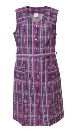 Damenkittel Baumwolle ohne Arm Kittel Schürze Knopfkittel bunt Hauskleid – Bild 5